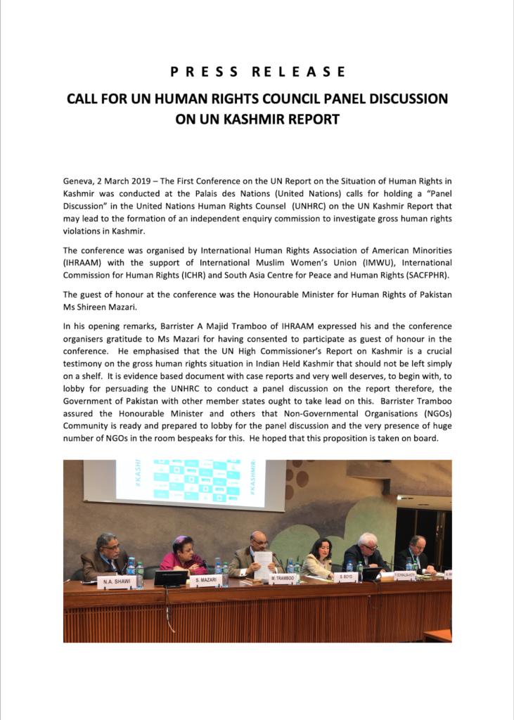Press Release 02 March 2019