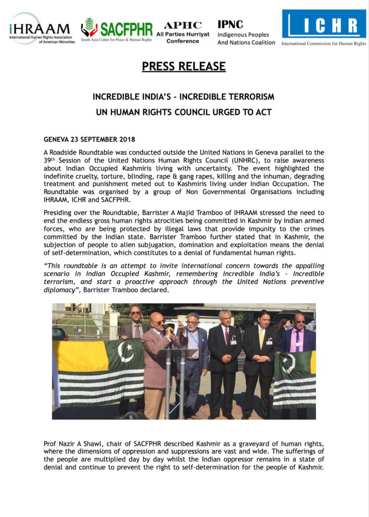 Press Release 23 September 2018