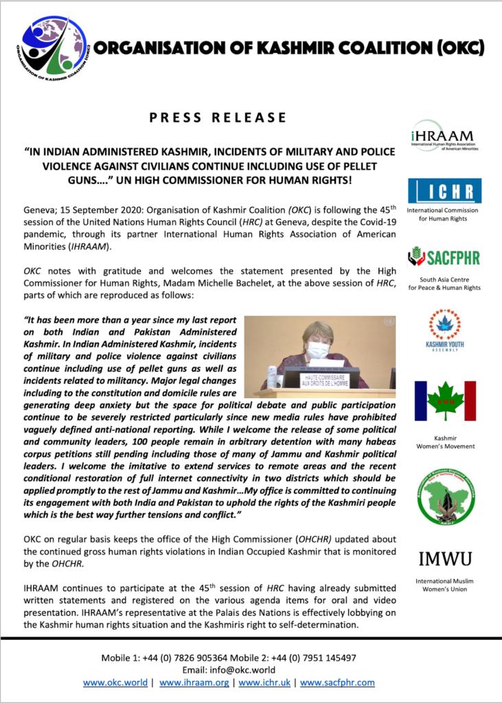 Press Release 15 Sept 2020