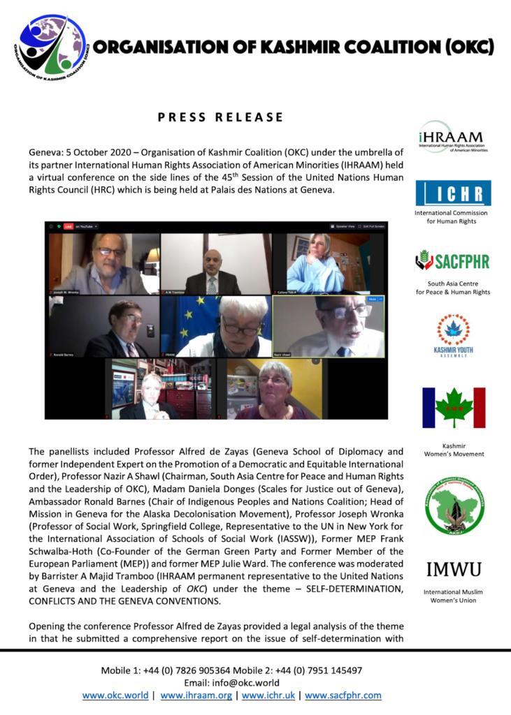 Press Release 05 October 2020