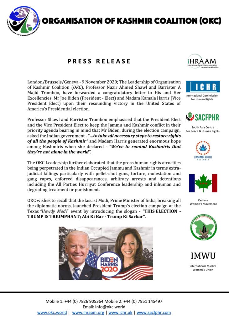 Press Release 09 November 2020